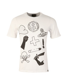 Vivienne Westwood Anglomania Mens White Classic Logo Mix T Shirt
