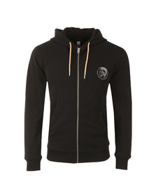 Diesel Mens Black Brandon Zip Hoody