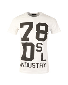 Diesel Mens White Diego ND T Shirt