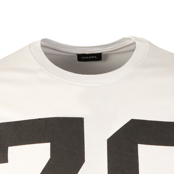 Diesel Mens White Diego ND T Shirt main image