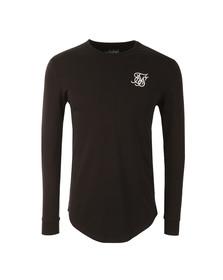Sik Silk Mens Black Long Sleeve Gym T Shirt
