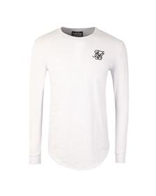 Sik Silk Mens White Long Sleeve Gym T Shirt