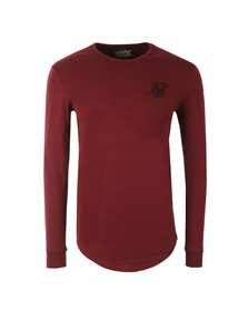 Sik Silk Mens Red Long Sleeve Gym T Shirt