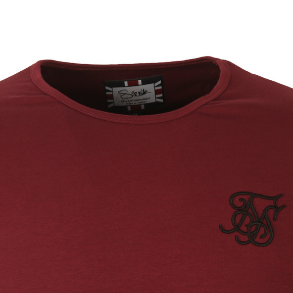 Sik Silk Mens Red Long Sleeve Gym T Shirt main image