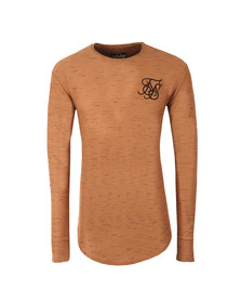 Sik Silk Mens Beige Long Sleeve Inject Waffle T Shirt