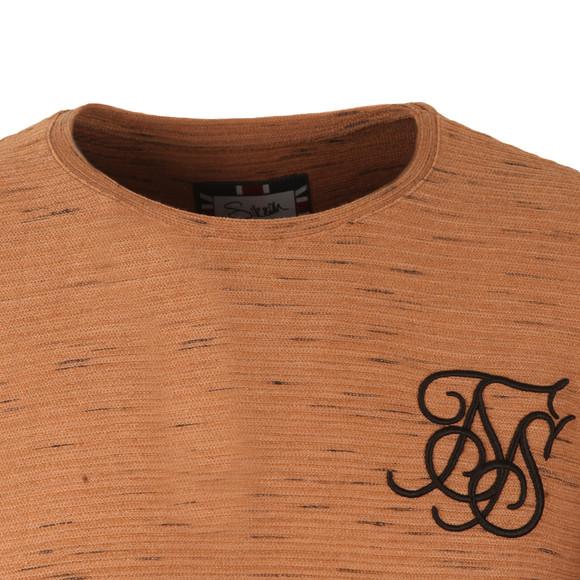 Sik Silk Mens Beige Long Sleeve Inject Waffle T Shirt main image