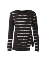 Cable Stripe Knit Jumper