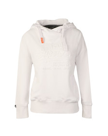 Superdry Womens White Vintage Logo Embossed Slouch Hoody