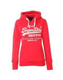 Superdry Womens Red Premium Goods Entry Hoody