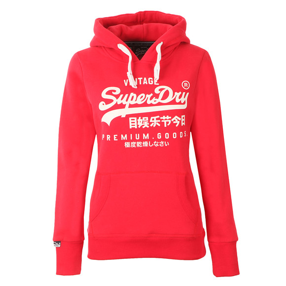 Superdry Womens Red Premium Goods Entry Hoody main image