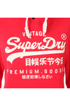 Superdry Womens Red Premium Goods Entry Hoody