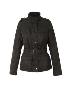 Barbour International Womens Blue Huggers Wax Jacket
