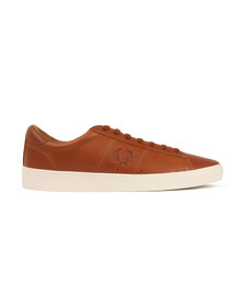 Fred Perry Sportswear Mens Brown Spencer Leather Trainers