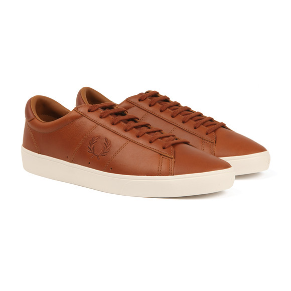 Fred Perry Sportswear Mens Brown Spencer Leather Trainers main image