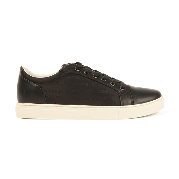 Armani Jeans Mens Black Allover Print Trainer main image