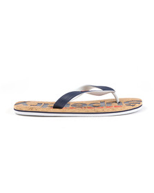 Superdry Mens Multicoloured Printed Cork Flip Flop