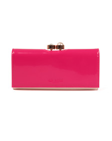 Ted Baker Womens Pink Cecilie Pearl Bobble Patent Matinee Purse