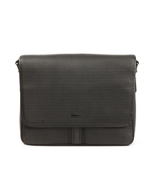 Hugo Mens Black Future Leather Messenger Bag