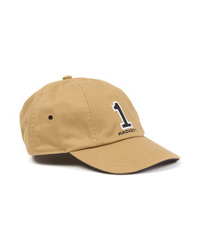 Hackett Mens Beige Number Cap