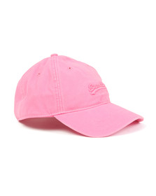 Superdry Womens Pink Super Solo Orange Label Cap