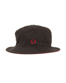 Fred Perry Mens Black Reversible Fisherman's Hat
