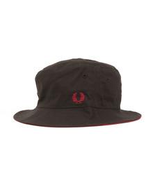 Fred Perry Mens Black Reversible Fisherman's Hat