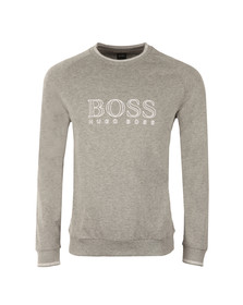 Boss Mens Grey Large White Logo Sweatshirt