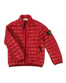 Stone Island Junior  Boys Red Micro Puffer Jacket