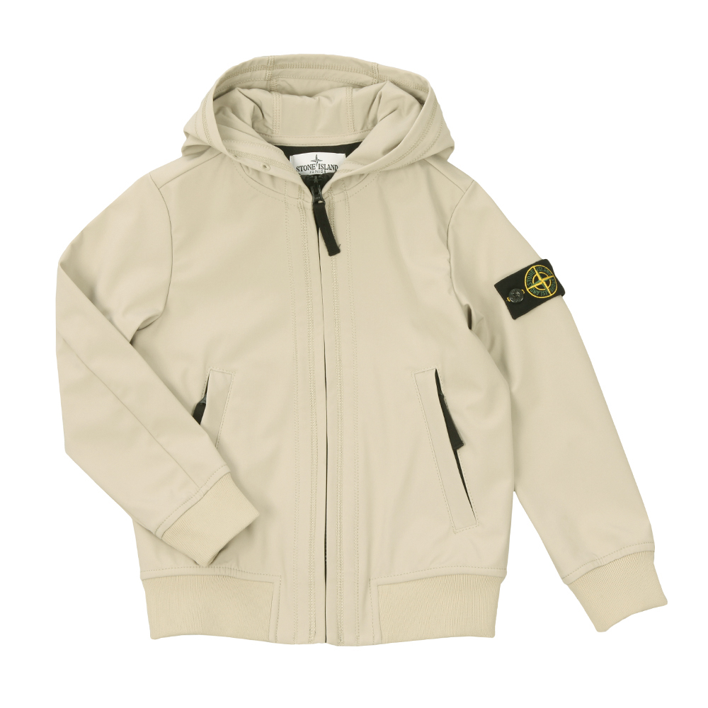 e5c535c466 Stone Island Junior Light Hooded Soft Shell Jacket | Oxygen Clothing