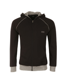 Boss Mens Black Full Zip Small Logo Hoody
