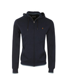 Farah Mens Blue Hick Full Zip Hooded Sweat
