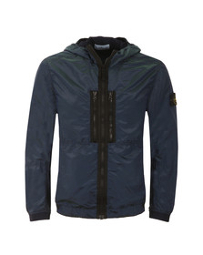 Stone Island Mens Blue Nylon Metal Watro Colour Weft Jacket