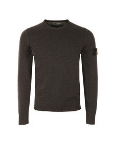 Stone Island Mens Grey Fine Cotton Crew Neck Jumper