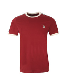 Fred Perry Sportswear Mens Red Taped Ringer T-Shirt