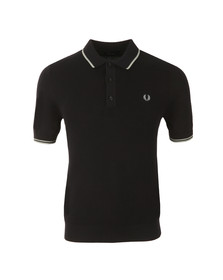 Fred Perry Mens Blue S/S Knitted Polo