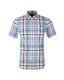 Fred Perry Mens Blue S/S Bold Check Shirt