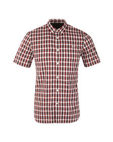 Fred Perry Mens Red S/S Gingham Check Shirt
