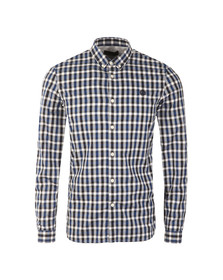 Fred Perry Mens Blue L/S Gingham Check Shirt