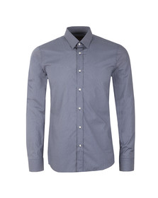 Hugo Mens Blue Elisha Extra Slim Patterned Shirt