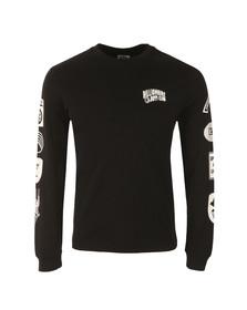 Billionaire Boys Club Mens Black Aviation Print Long Sleeve T Shirt