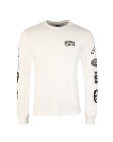 Billionaire Boys Club Mens White Aviation Print Long Sleeve T Shirt