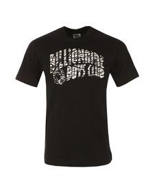 Billionaire Boys Club Mens Black Zebra Camo Arch Logo T Shirt