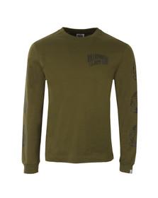 Billionaire Boys Club Mens Green Helmet Print Long Sleeve T Shirt