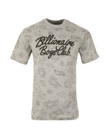 Billionaire Boys Club Mens Grey Galaxy All-Over Print T Shirt