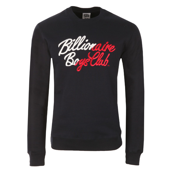 Billionaire Boys Club Mens Blue Script Embroidered Sweatshirt main image