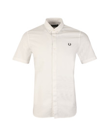 Fred Perry Mens White S/S Oxford Shirt