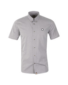 Pretty Green Mens Blue Glendale Short Sleeve Shirt
