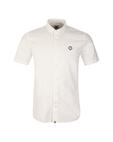Pretty Green Mens White Oldbury Short Sleeve Shirt