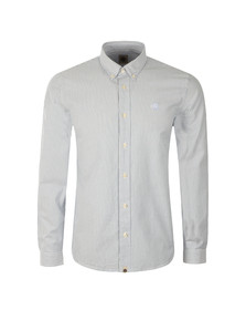 Pretty Green Mens Blue Cheetham Stripe Oxford Shirt