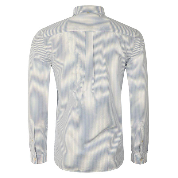 Pretty Green Mens Blue Cheetham Stripe Oxford Shirt main image
